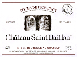 Chateau Saint Baillon Cotes De Provence Rose 2020 750ml