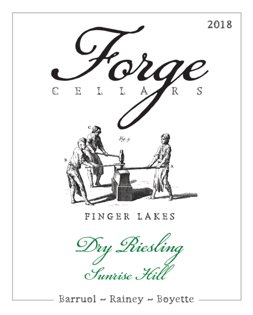 Forge Cellars Riesling Sunrise Hill Vineyard 2018 750ml