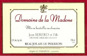 Domaine Madone Beaujolais-Villages Perreon 2019 750ml