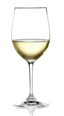 The beautiful color of Chardonnay in the glass