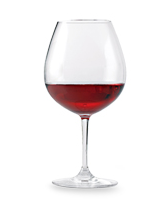 The beautiful red color of Pinot Noir in the glass