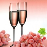 Champagne in pink color
