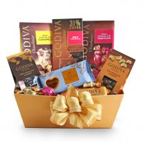 Golden Godiva Milk Chocolate Gift Basket