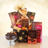 The Stars of Godiva Gift Basket