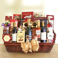 Deluxe Wine Gift Basket