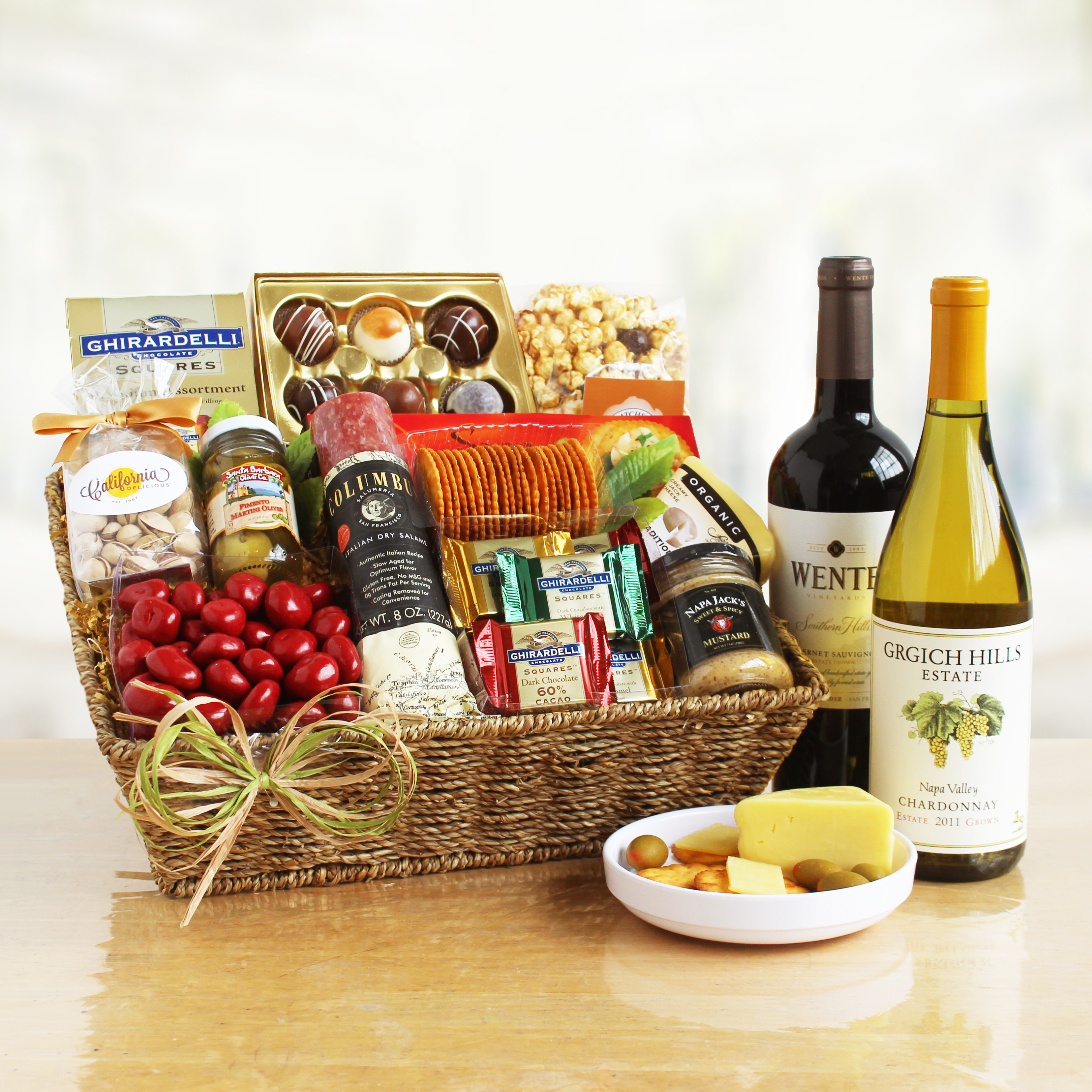 California s finest gourmet gift basket wine lovers