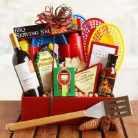 Dad's Wine and BBQ Picnic Gift Basket