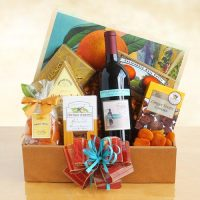Wine and Snacks Celebration Gift Basket
