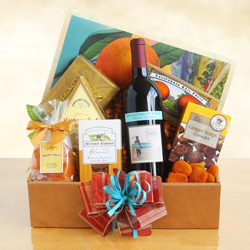 Wine and Snacks Celebration Gift Basket