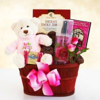 Moms Hugs and Chocolate Gift Basket
