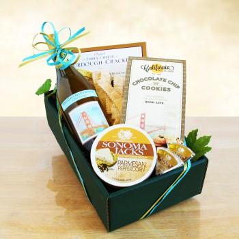 Classic California Chardonnay Wine & Cheese Gift
