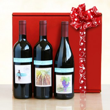 Romantic Reds -California Red Wines Gift Box 1