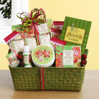 Passion Flower Spa Gift Basket