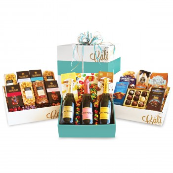 Triple Tower Sparkling Wine and Sweets Party Gift