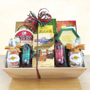 Meat, Cheese and Chocolate Abundance Crate