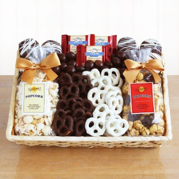 Crunchy Sweet Snacks Gift Basket