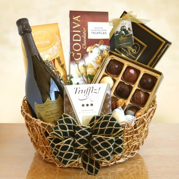 Ultimate Dom Perignon Champagne and Truffes Gift Basket